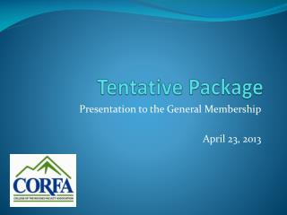 Tentative Package