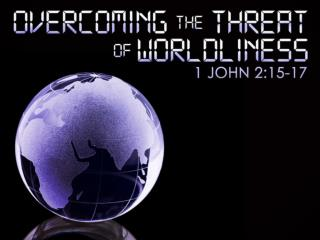 When it comes to worldliness we are all at risk! Don't think so? Meet Demas 2 Timothy 4:10