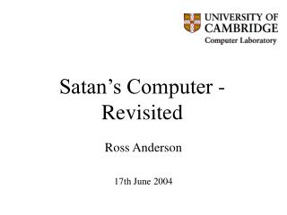 Satan s Computer - Revisited