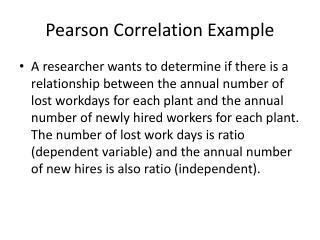 Pearson Correlation Example