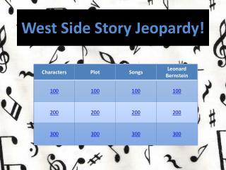 West Side Story Jeopardy!