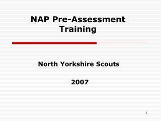 NAP Pre-Assessment Training