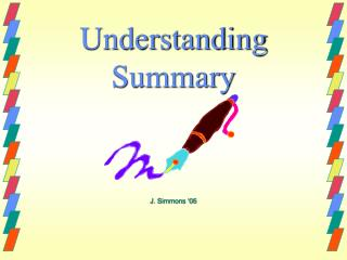 Understanding Summary