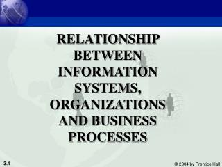 RELATIONSHIP BETWEEN INFORMATION SYSTEMS, ORGANIZATIONS AND BUSINESS PROCESSES