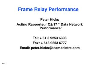 Frame Relay Performance