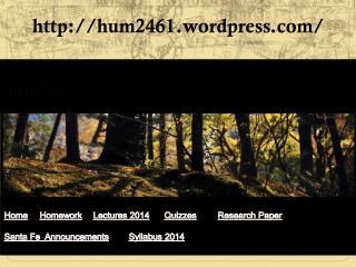 hum2461 Humanities of Latin America