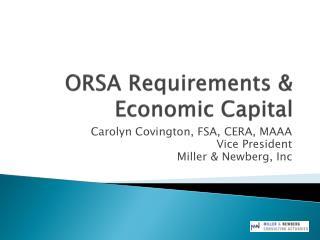 ORSA Requirements &  Economic Capital