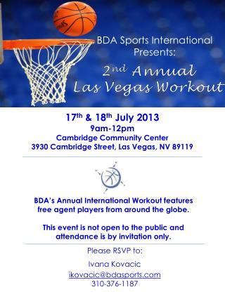 BDA Sports International  Presents: