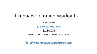 Language-learning Workouts