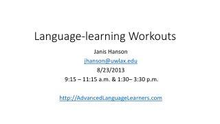 Language-learning Workouts