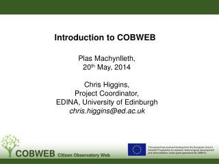 Introduction to COBWEB