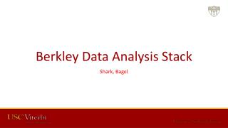 Berkley Data Analysis  Stack