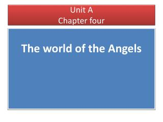 Unit A Chapter four