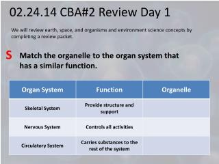 02.24.14 CBA#2 Review Day 1