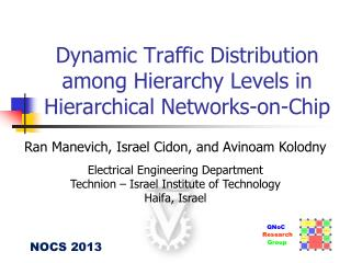 Dynamic Traffic Distribution among Hierarchy Levels in Hierarchical Networks-on-Chip