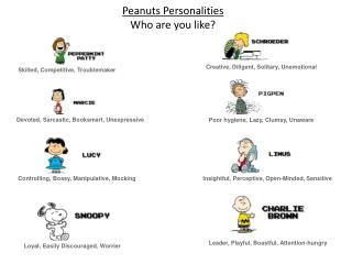 Peanuts Personalities Who are you like ?