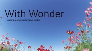 With Wonder