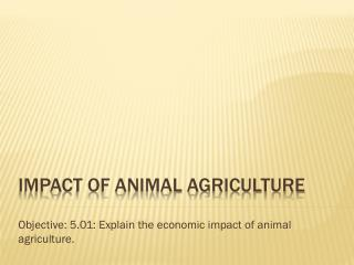 Impact of animal agriculture