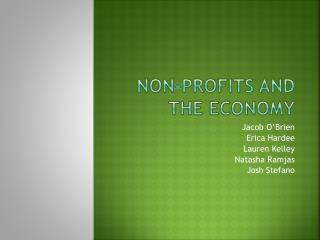 Non-profits and the economy