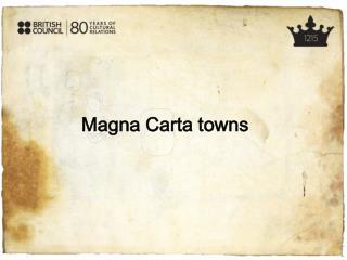 Magna Carta towns