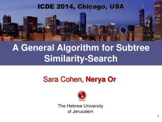 A General Algorithm for  Subtree  Similarity-Search