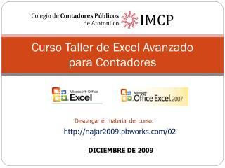 Curso Taller de Excel Avanzado para Contadores