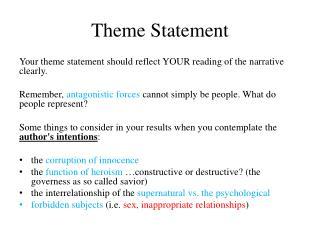 Theme Statement