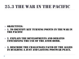 25.3 The War in the Pacific