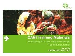 CABI Training Materials