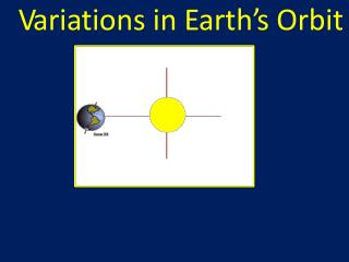 V ari a tions in E arth ' s Orbit