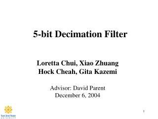 5-bit Decimation Filter