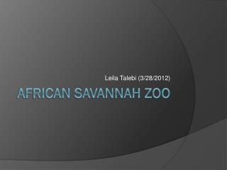 African Savannah Zoo