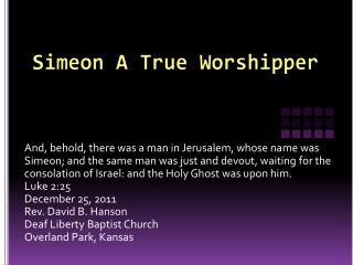Simeon A True Worshipper