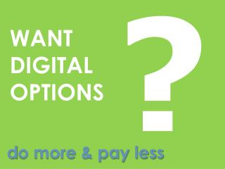 WANT DIGITALOPTIONS