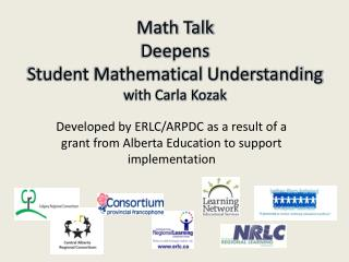 Math Talk  Deepens  Student Mathematical Understanding with Carla Kozak