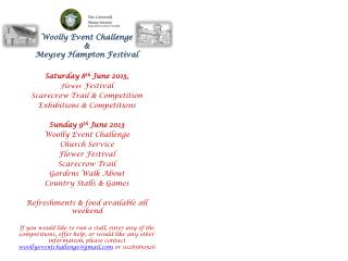 Woolly Event Challenge  &  Meysey  Hampton Festival