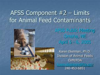 AFSS Component 2   Limits for Animal Feed Contaminants