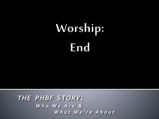 Worship : End