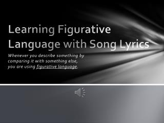 Learning Figurative Language with Song Lyrics