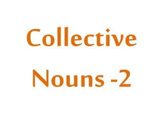 Collective  Nouns -2