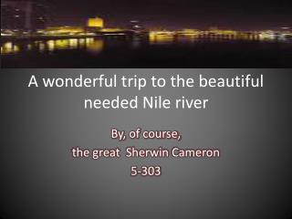 A wonderful trip to the beautiful needed Nile river