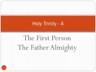 Holy Trinity - 4