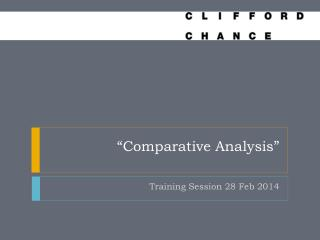 """Comparative Analysis"""