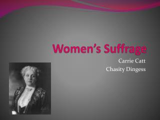 Women�s Suffrage