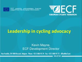 Leadership in cycling advocacy