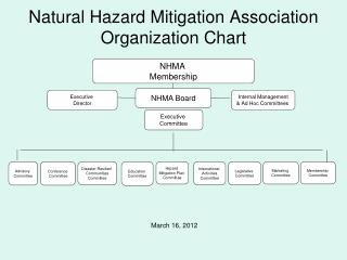 Natural Hazard Mitigation Association Organization Chart