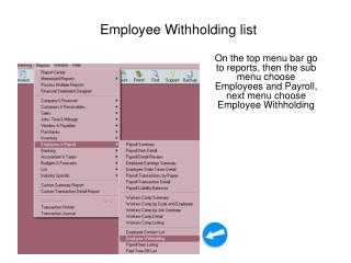 Employee Withholding list