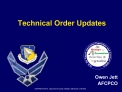 Technical Order Updates