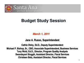Budget Study Session