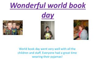Wonderful world book day